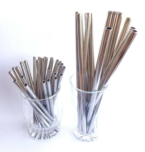 Stainless Steel Smoothie / Cocktail Straws