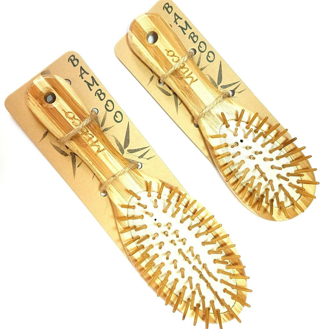 MiEco Bamboo Hair Brushes (Small and Large)