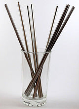 Load image into Gallery viewer, multiple steel straws in glass cup