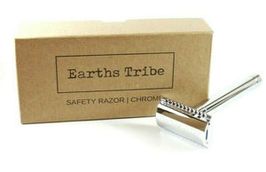 brown card board box and silver razor