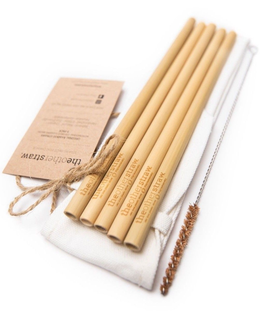 The Other Straw: 5 Pack Original Straw With Brush