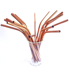 Various Coloured Stainless Steel Straws