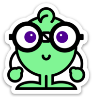Bright Nerdy Sticker
