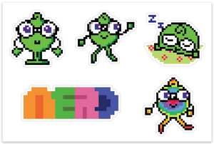 Pixel Nerdy Sticker Pack