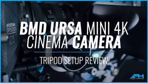 BMD Ursa Mini 4K EF Cinema Camera Tripod Setup Review | Episode 2