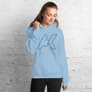 Alex Kinter Dallas Dubstep AK Logo EDM Unisex Hoodie - Light Blue / S - Hoodies