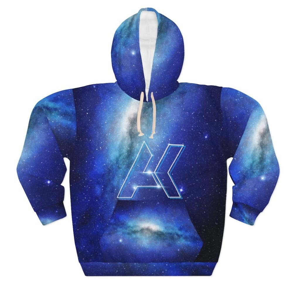 Dallas Dubstep EDM 3D Unisex AK Logo Pullover Drawstring Galaxy Hoodie - L - All Over Prints