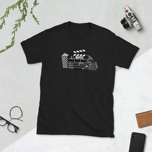 I Love Movies - Short-Sleeve Unisex T-Shirt - Black / S - Shirts