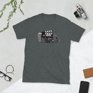 I Love Movies - Short-Sleeve Unisex T-Shirt - Dark Heather / S - Shirts