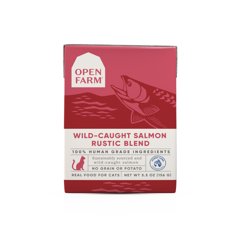 Open Farm 5.5 oz Wild-Caught Salmon Rustic Blend for Cats
