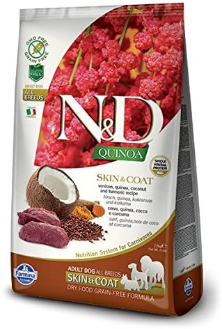 Farmina 15.4 LB Dog Quinoa Skin & Coat (Venison)