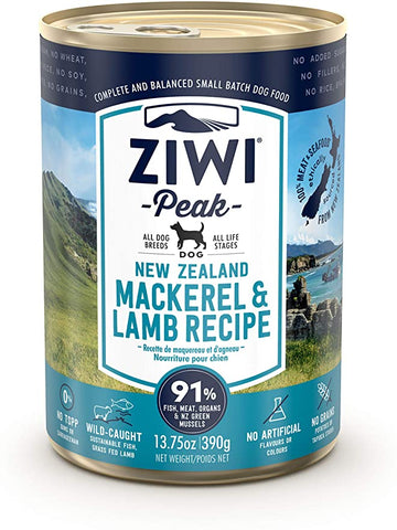 ZIWI - Canned Mackerel & New Zealand Lamb for Dogs