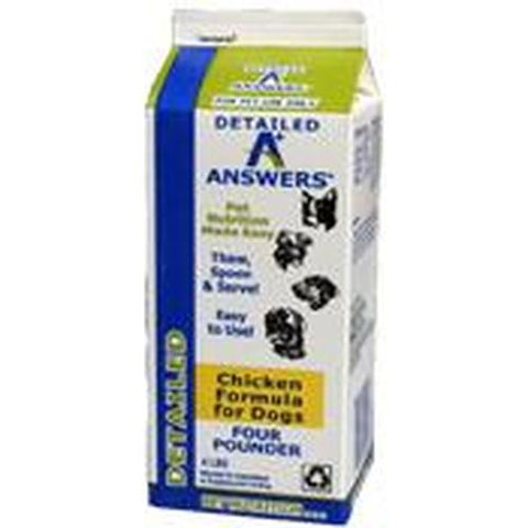 Answers Frozen Raw Detailed Formula [Chicken]