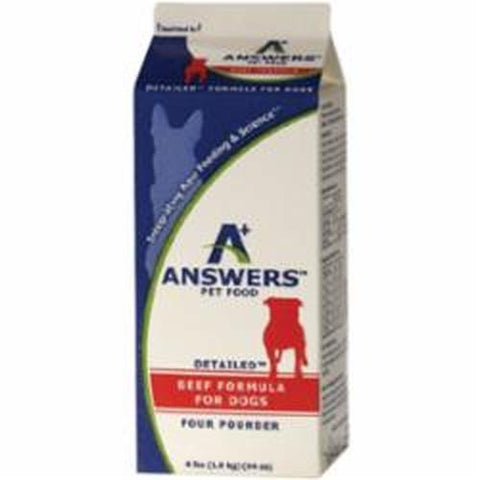 Answers Frozen Raw Detailed Formula [Beef]