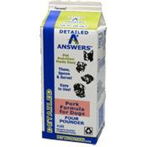 Answers Frozen Raw Detailed Formula [Pork]