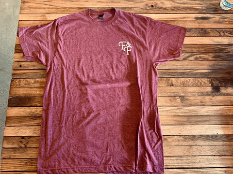 Heather Burgundy Tee