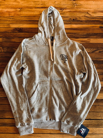 NEW! Gray zip-Up Hoodie