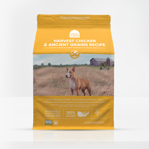 Open Farm Dry Dog Food Harvest Chicken Ancient Grain Recipe