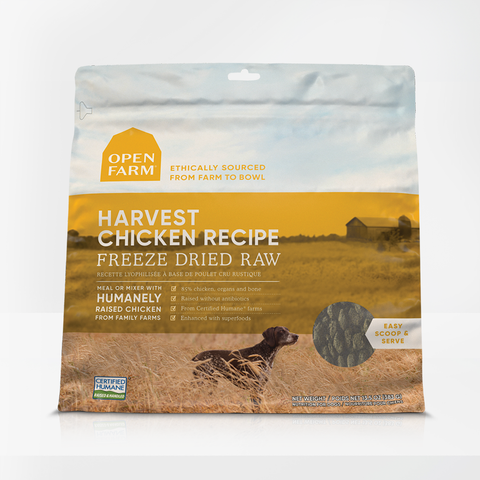 Open Farm 13.5 oz  Harvest Chicken Freeze Dried Raw