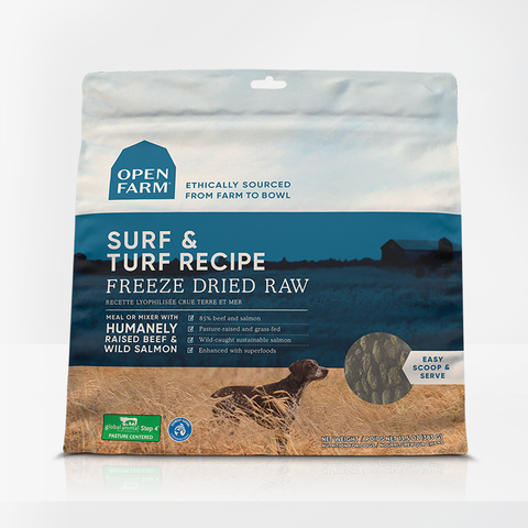 Open Farm 13.5 oz  Surf & Turf Freeze Dried Raw