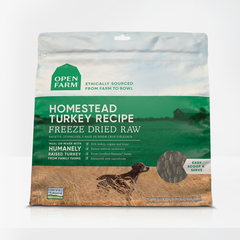 Open farm 22 oz  Homestead Turkey Freeze Dried Raw