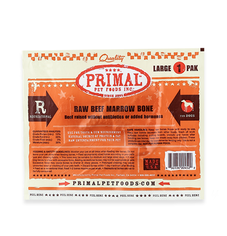 Primal lg beef marrow bone 1 pk raw frozen