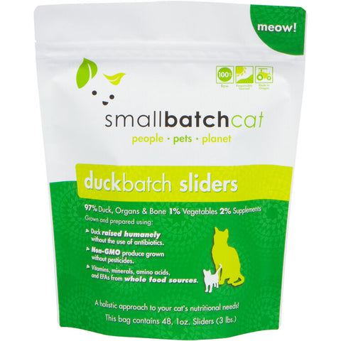 Smallbatch 3lbs Sliders for Cats [Duck]