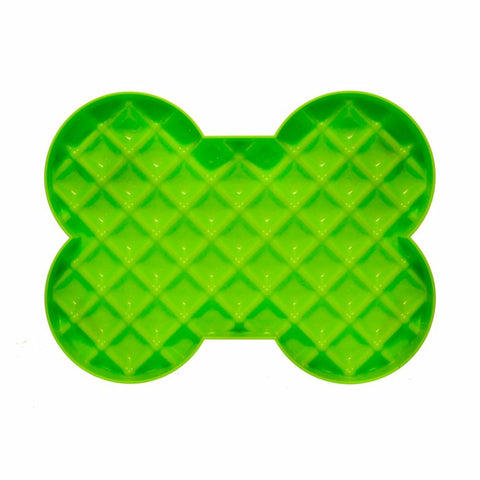 Hyper Slow Feeders - SloDog Slow Feeder Green Bone Shape Plate