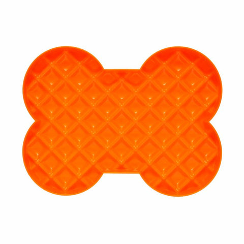Hyper Slow Feeders - SloDog Slow Feeder Orange Bone Shape Plate
