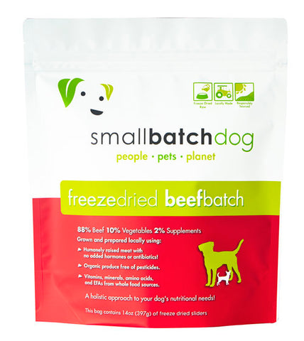 Smallbatch Freeze Dried 14oz Beef Sliders for dogs