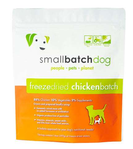 Smallbatch Freeze Dried 14 0z Chicken Sliders Food for Dogs
