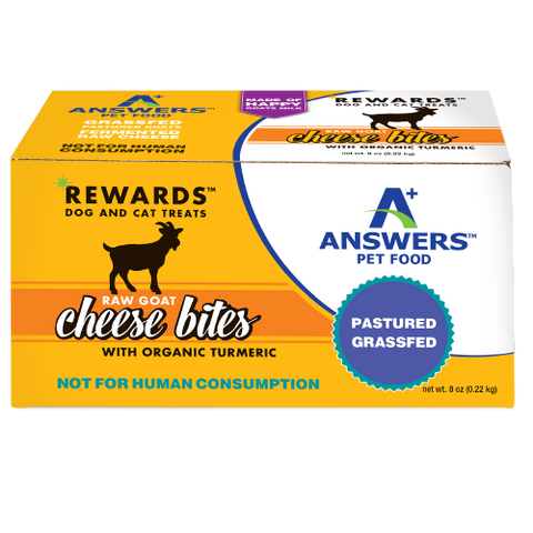 Answers Rewards 8 oz Raw Goat Cheese with Organic Turmeric Treat for Dogs & Cats