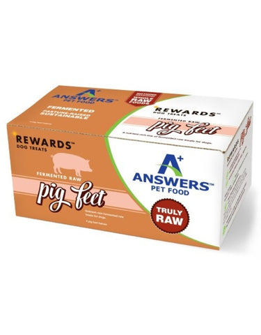 Answers Rewards 4 CT Raw Fermented pig Feet Treat for Dogs