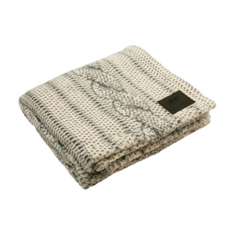 Tall Tails - Fleece Blanket [Cable Knit]
