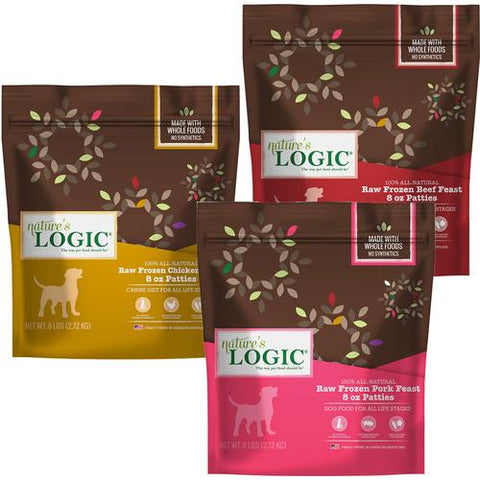 Nature's Logic  - 6lbs Raw Frozen Dog Food Patties [Beef]