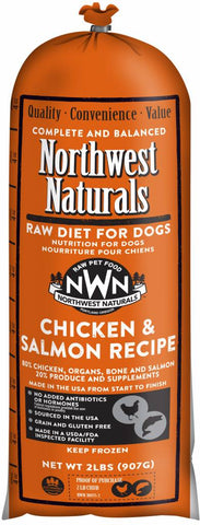 Northwest Naturals 5 Lb Chicken & Salmon Raw Chub