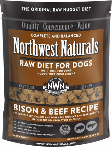 Northwest Naturals 6 Lb Beef/Bison Raw Nuggets