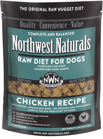 Northwest Naturals 6 Lb Chicken Raw Nuggets
