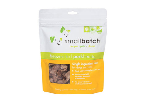 Smallbatch Freeze Dried Pork Hearts Treats for Dogs & Cats