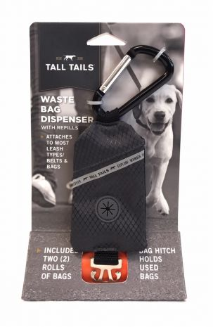 Tall Tails - Waste Bag Dispenser with 2 rolls of bags [Charcoal]