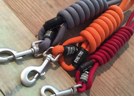 Tall Tails - 60 X 7/16 IN LARGE Rope Leash Orange [Dogs over 50 lbs]