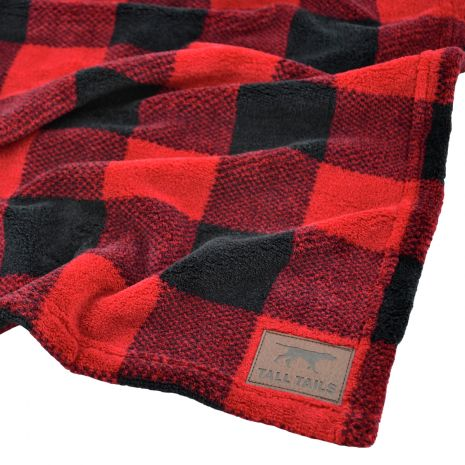 Tall Tails - Fleece Blanket [Hunter's Plaid]