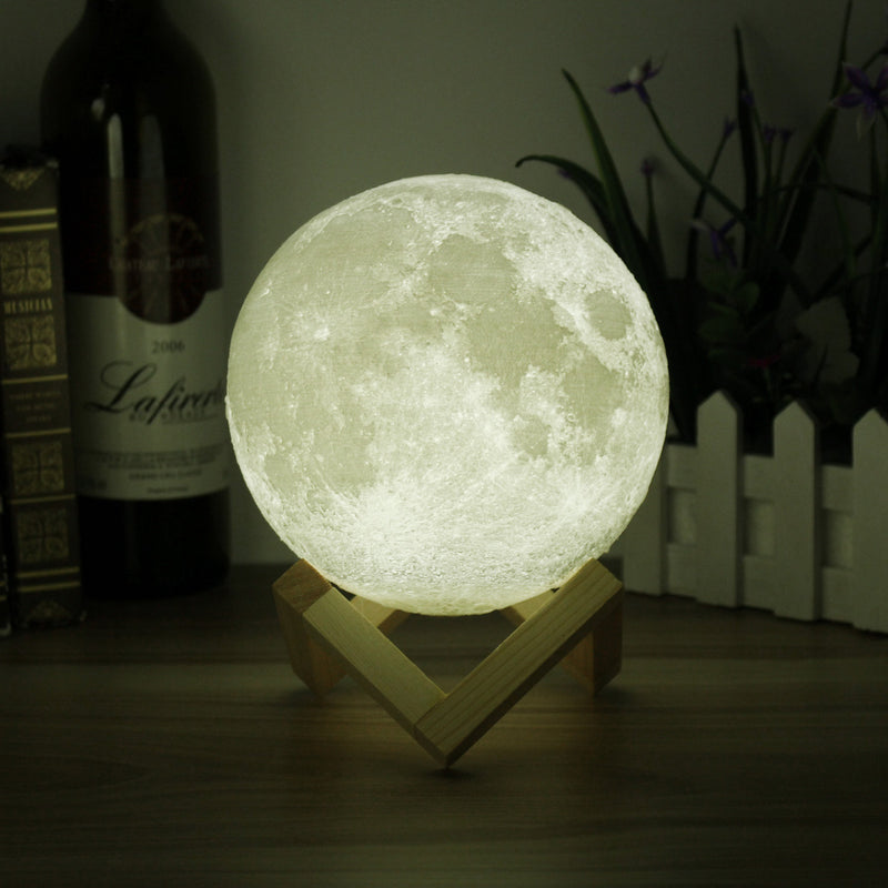 Moon Lamp Rechargeable Lunar Night Light