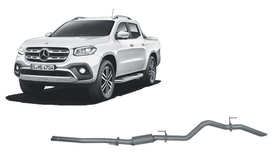 Redback 4x4 Extreme Duty 4X4 Performance Exhaust to suit MERCEDES-BENZ X-CLASS (04/2018 - on)