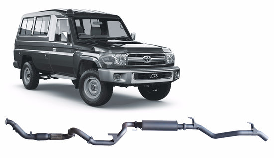 Redback 4x4 Extreme Duty 4X4 PERFORMANCE EXHAUST to suit Toyota Landcruiser (2007 - 2016)