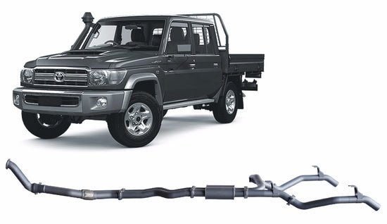 Redback 4x4 Extreme Duty 4X4 Performance Exhaust to suit Toyota Landcruiser (01/2012 - 01/2016)
