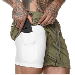 Shopedian ArmyGreen / L / United States Men's Multifunctional New Secure Pocket Fitness Shorts