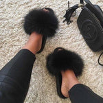 Shopedian Black / 36-37 (25cm) The Gorgeous Ladies Fluffy Slides? Limited Stock!