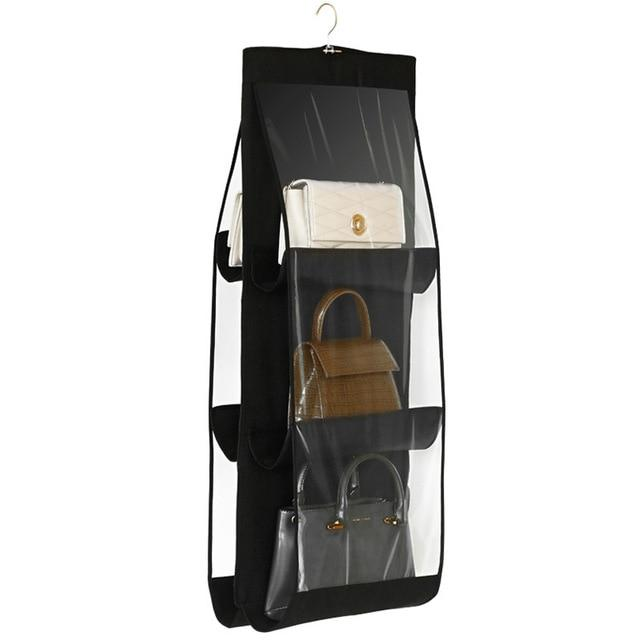 Shopedian Black / China 6 Pocket Hanging Handbag Organizer