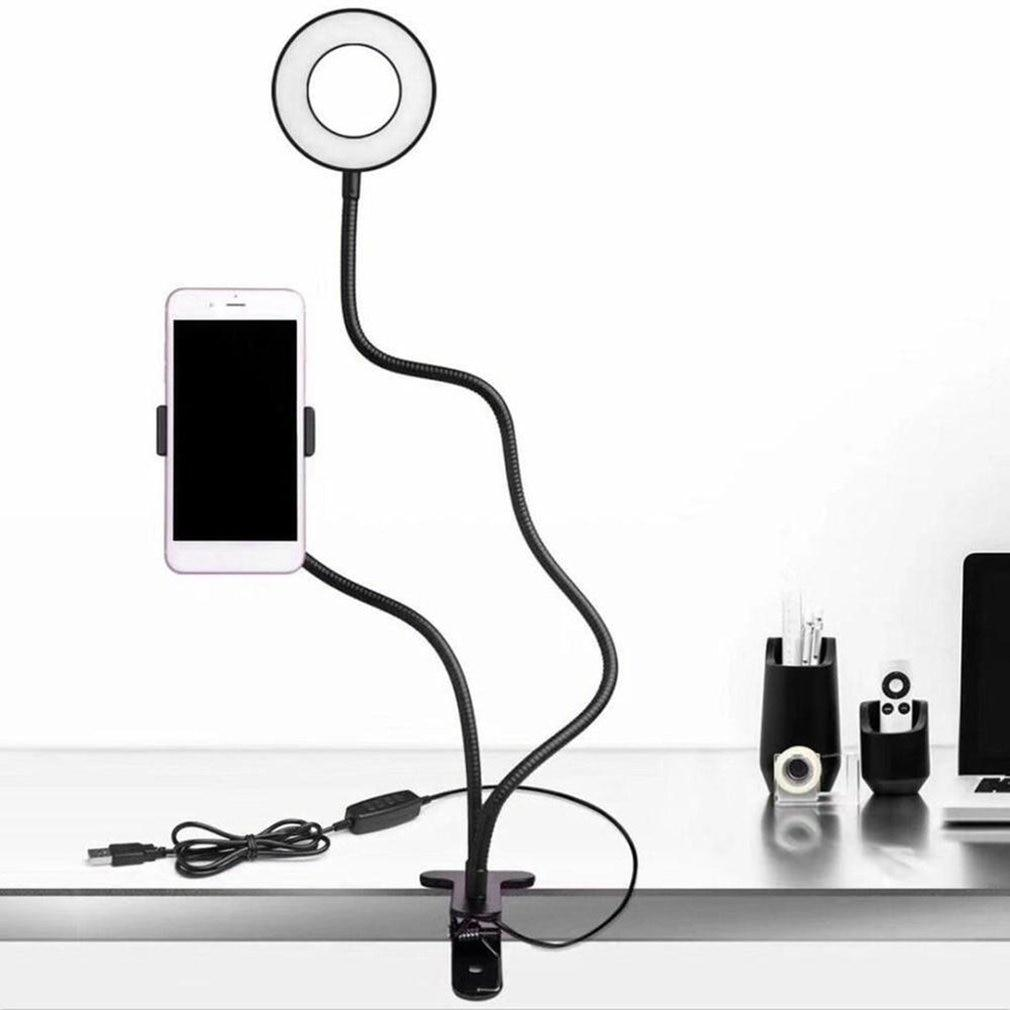 Shopedian Black Professional Portable LED Light with Cell Phone Holder